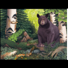 """""""Daydreaming"""" (Black bear-Superior National Forest) Copyright 2006 - 18 X 24"""