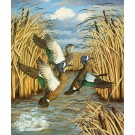 Fair weather Friends(Blue wing teal)-Copyright 1985 - 19x 22 ¼