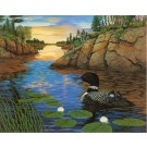 "In the Beginning-Common Loon (Boundary Waters)-Copyright 1992 - 15 7/8"" x 20"